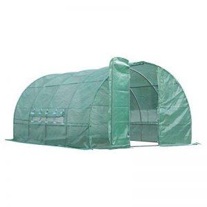 Serre de jardin tunnel 12 m² 4L x 3l x 2H m acier galvanisé renforcé diamètre 2,5 cm + PE haute densité fenêtres porte vert neuf 42 de la marque Outsunny image 0 produit