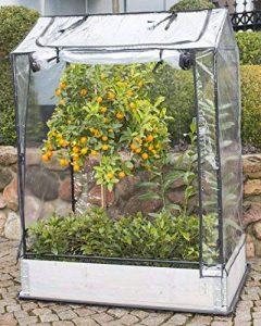 Serre en plastique avec bac de jardinage – Serre surélevé Serre de balcon env. 80 x 60 x 137 cm gris de la marque eGenuss image 0 produit