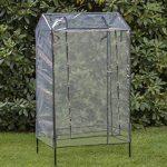 Serre en plastique avec bac de jardinage – Serre surélevé Serre de balcon env. 80 x 60 x 137 cm gris de la marque eGenuss image 2 produit