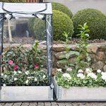 Serre en plastique avec bac de jardinage – Serre surélevé Serre de balcon env. 80 x 60 x 137 cm gris de la marque eGenuss image 4 produit
