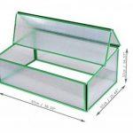 Serre en polycarbonate Slide and Grow Jardin Potager balcon 97x 57x h 28/37cm. Fabriqué en Europe 0.52M2profils verts de la marque Slide and Grow image 1 produit