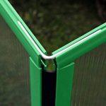 Serre en polycarbonate Slide and Grow Jardin Potager balcon 97x 57x h 28/37cm. Fabriqué en Europe 0.52M2profils verts de la marque Slide and Grow image 4 produit