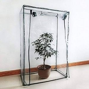 Serre à tomates, PE Plante Coque Légumes Tente avec fermeture Éclair enroulable Porte (cadre non inclus) de la marque Lembeauty image 0 produit