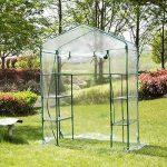 Serre transparente en PVC, tente de jardin pour intérieur ou extérieur, pour semis, culture fines herbes ou fleurs (armature non incluse) de la marque Lembeauty image 2 produit