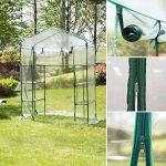 Serre transparente en PVC, tente de jardin pour intérieur ou extérieur, pour semis, culture fines herbes ou fleurs (armature non incluse) de la marque Lembeauty image 4 produit