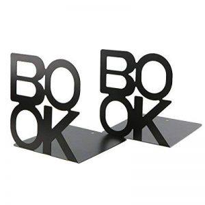 Simple livre Noir Lettre Motif en métal Serre-livres livre Organiseur pour bureau Bureau Décoration Cadeau de la marque Apol image 0 produit