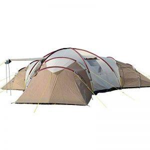 SKANDIKA Turin 12 – Tente Camping Familiale 12 Personnes - 840x720x200cm - 3 Cabines de la marque SKANDIKA image 0 produit