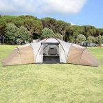 SKANDIKA Turin 12 – Tente Camping Familiale 12 Personnes - 840x720x200cm - 3 Cabines de la marque SKANDIKA image 1 produit