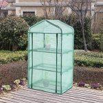 SONGMICS Serre de Jardin avec Housse 140 g/m² PE Plastique 3 Étagères GWP03L de la marque SONGMICS image 1 produit