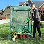 SONGMICS Serre de Jardin Serre à Film Flexible Serre pour Légumes, tomates Structure Renforcée avec Clous de Sol Vert GWP15GN de la marque SONGMICS image 1 produit
