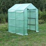 SONGMICS Serre de Jardin Tente Cadre Métal avec Housse PE Plastique 143 x 143 x 155/195 cm GWP12L de la marque SONGMICS image 1 produit
