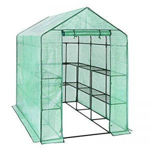 SONGMICS Serre de Jardin Tente Cadre Métal avec Housse PE Plastique 215 x 143 x 195 cm GWP13L de la marque SONGMICS image 0 produit