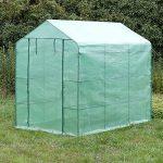 SONGMICS Serre de Jardin Tente Cadre Métal avec Housse PE Plastique 215 x 143 x 195 cm GWP13L de la marque SONGMICS image 1 produit