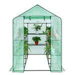 SONGMICS Serre de Jardin Tente Cadre Métal avec Housse PE Plastique 215 x 143 x 195 cm GWP13L de la marque SONGMICS image 2 produit