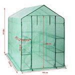 SONGMICS Serre de Jardin Tente Cadre Métal avec Housse PE Plastique 215 x 143 x 195 cm GWP13L de la marque SONGMICS image 3 produit