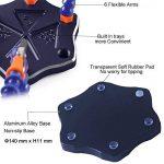 Station de soudage avec mains aidantes, outil de soudure flexible NEWACALOX avec lentille grossissante et mini lampe de poche, base en aluminium antidérapant, 6 mains aidantes, clips pivotants de 360 degrés - parfait pour la réparation électronique, fabri image 3 produit