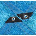 Sunblock 85% tissu d'ombre de Sunblock avec des oeillets pour le patio de jardin Taille facultative (Couleur : Blue, taille : 2x3m) de la marque HAIZHEN image 1 produit