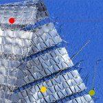 Sunblock Feuille D'aluminium Maille Ombre Tissu Tissu Résistant À L'uv pour Panneau De Filet D'ombre pour La Serre Végétale, Bâche De Maille Résistante,2M*2M de la marque Rziioo image 2 produit