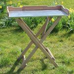 Table basse Table de jardinage en bois, Plateau Zinc, vert B78x T39x H82cm de la marque GartenDepot24 image 2 produit