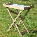 Table basse Table de jardinage en bois, Plateau Zinc, vert B78x T39x H82cm de la marque GartenDepot24 image 3 produit