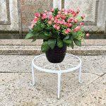 Étagère de Pots de Fleurs Plantes Jardinière Tabouret en Métal Fer Forge Blanc 4Pcs-Dazone® de la marque Dazone image 1 produit