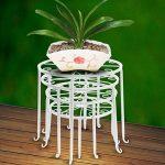 Étagère de Pots de Fleurs Plantes Jardinière Tabouret en Métal Fer Forge Blanc 4Pcs-Dazone® de la marque Dazone image 3 produit