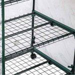 TecTake Serre de jardin 3 étages mobil cadre en metal PE plastique 69x49x133 cm de la marque TecTake image 4 produit