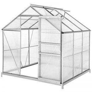TecTake Serre de jardin et polycarbonate alu tente abri plante jardinage 190x185x195 cm - diverses modèles - (190x185x195 avec base | no. 402472) de la marque TecTake image 0 produit