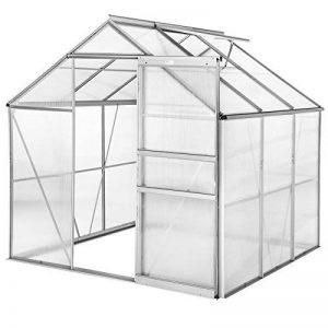 TecTake Serre de jardin et polycarbonate alu tente abri plante jardinage 190x185x195 cm - diverses modèles - (190x185x195 sans base   no. 402473) de la marque TecTake image 0 produit