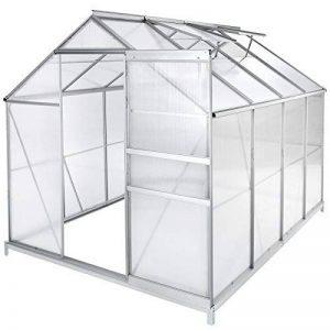 TecTake Serre de jardin et polycarbonate alu tente abri plante jardinage - diverses modèles - (250x185x195 cm avec base | no. 402475) de la marque TecTake image 0 produit