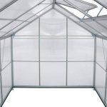TecTake Serre de jardin et polycarbonate alu tente abri plante jardinage - diverses modèles - (250x185x195 cm avec base | no. 402475) de la marque TecTake image 3 produit