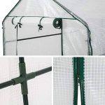 TecTake Serre de jardin PE plastique tente abri - diverses modèles - (186x120x190cm   No. 401861) de la marque TecTake image 2 produit