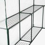 TecTake Serre de jardin PE plastique tente abri - diverses modèles - (186x120x190cm | No. 401861) de la marque TecTake image 3 produit