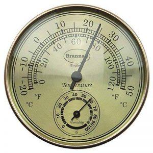 Thermomètre hygromètre Cadran Doré Serre de jardin Bureau à domicile–Mesure Température et Humididty de la marque Brannan image 0 produit