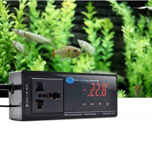 Thermostat électronique pour aquarium, syyl Thermomètre électronique avec écran LCD et capteur NTC, contrôleur de température électronique numérique pour baignoire Hydroponics Fish Tank/reptile/tortue de la marque SYYL image 0 produit