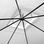 Tonnelle de jardin 3x4m en polyrotin Tente de jardin Pavillon Barnum 12m² Crème de la marque Deuba image 3 produit