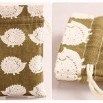 TooGet 12 Pcs Double Cordon Coton Lin Toile de Jute Sac Mousseline Sacs faveur de Mariage Cadeau Bijoux Bonbons Sacs d'emballage 12.5 x 17cm (Hérisson) de la marque TooGet image 2 produit