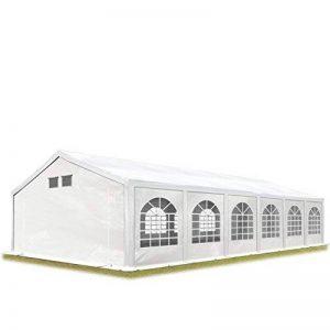 TOOLPORT Tente de réception 6x12 m tente de jardin blanc bâche PE 300 g/m² imperméable résistante aux UV AVEC CADRE DE SOL de la marque TOOLPORT image 0 produit