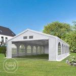 TOOLPORT Tente de réception 6x12 m tente de jardin blanc bâche PE 300 g/m² imperméable résistante aux UV AVEC CADRE DE SOL de la marque TOOLPORT image 2 produit