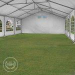 TOOLPORT Tente de réception 6x12 m tente de jardin blanc bâche PE 300 g/m² imperméable résistante aux UV AVEC CADRE DE SOL de la marque TOOLPORT image 3 produit