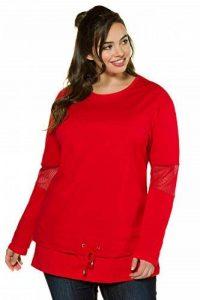 Ulla Popken Femme Grandes Tailles | Sweat-Shirt à Effet de Superposition | 713549 de la marque Ulla-Popken image 0 produit