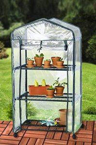 UPP® Plante Serre avec roulettes/serre/Mobile à semis/maison/tomate maison/Film Serre Plante/serre/étagère de la marque UPP image 0 produit