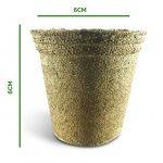 Urban Sprout Pots biodégradables100pots de plantation en fibres pour semis6cm Rond de la marque Urban Sprout image 2 produit