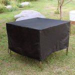 Vinteky® Housse imperméable pour meubles de jardin, protecter table de jardin adaptée à tous les types de meubles patio et terrasse. Rugged avec le cordon de serrage et l'oeillet de verrouillage, 190T Polyester Material (Oxford) avec revêtement en PU, dis image 4 produit