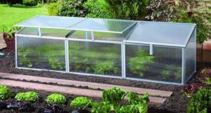 Vitavia trading gaia-finition : 3 x 4 mm, pic, aluminium, surface : env. 0,9 m², avec 3 lucarnes sockelmaß : 0,51 x 1,80 m de la marque Gartenwelt Riegelsberger image 0 produit