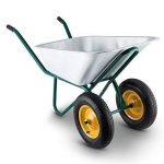 Waldbeck Heavyload Brouette Chariot de Jardin Capacité de Transport 120l Capacité de Charge 320 kg en tôle d'acier galvanisé Bonne stabilité Résistant aux intempéries Vert-Argent de la marque Waldbeck image 1 produit