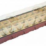 Windhager Serre d'intérieur, serre de Rebord de fenêtre avec 30pots de semis, Terracotta/anthracite, 16,5x 54,4x 12cm, 06840 de la marque Windhager image 1 produit