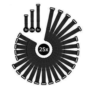 WINTEX 25 attache-câbles en velcro réutilisables en qualité premium - serre-câbles, colliers de serrage avec scratchs de la marque WINTEX image 0 produit