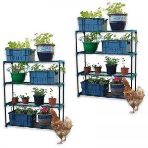 Woodside - Lots de 2 meubles de rangement - à étagères - pour garage/serre de la marque Woodside image 0 produit
