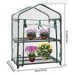 XMLIFEAI Plante Serre Coque, Mini Portable Cabine Jardin Maison pour extérieur/intérieur à Herbes Fleur Plantes Balcon de Jardin (sans Cadre de Fer) de la marque image 1 produit